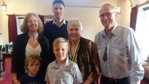 Jill Garrett and family