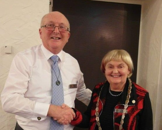 President Ngaire with Past President David