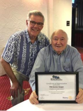 PDG Gordon Hooper receives RNZWCS award