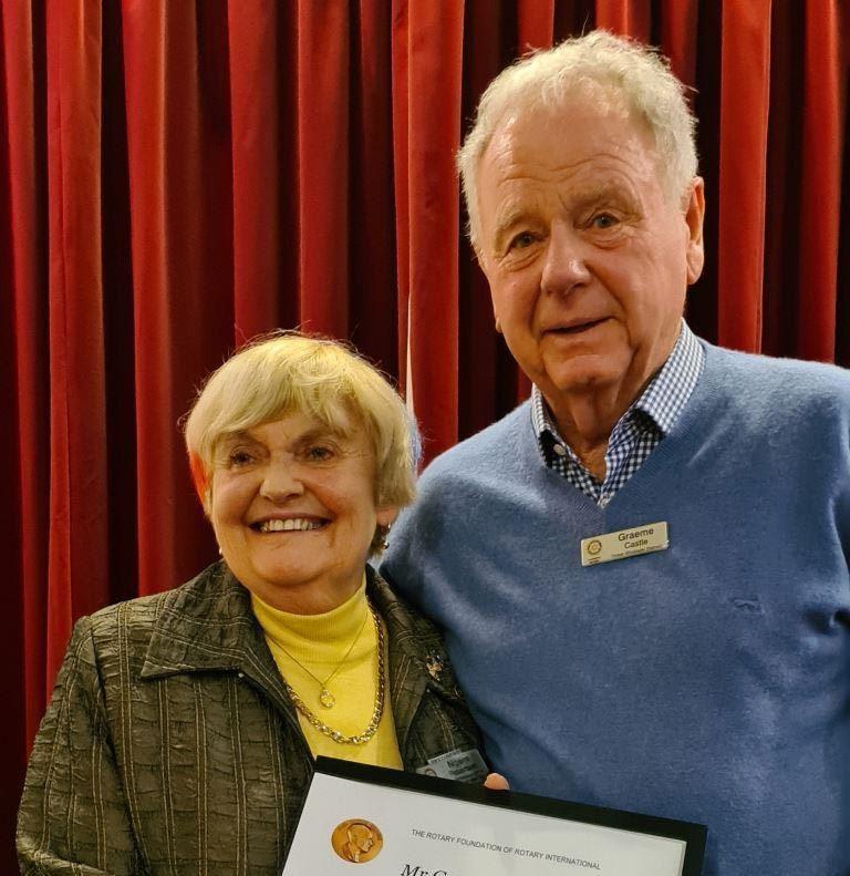 John Hewson and Graeme Castle  Receive Paul Harris Awards